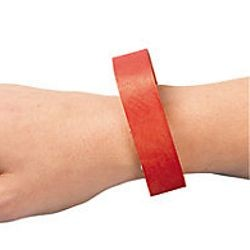 Red Self-Adhesive Wrist Paper Tickets