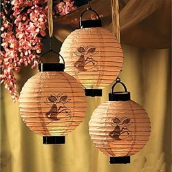 Paper Wedding Bells Light-Up Lanterns