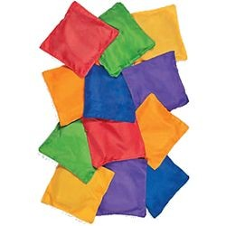 Reinforced Nylon Bean Bags Assorted Colors