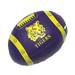 6in x 4in Vinyl Footballs With Tiger Design