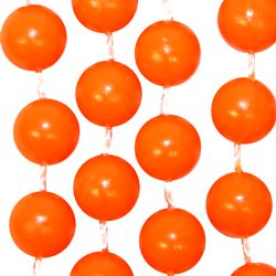 7mm 33in Non-Metallic Orange Beads