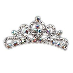 1 5/8in Rhinestone Mini Tiara Hair Comb