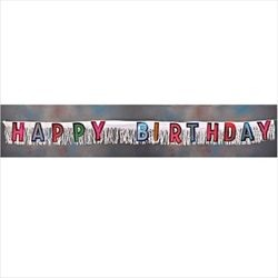 10in Wide x 9ft long Happy Birthday Paper Banner