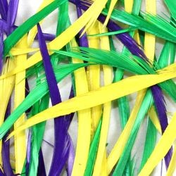 7gr Biots/ Purple/ Green/ Gold Colors Craft Feathers