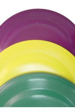7in Purple Green Yellow Frisbees