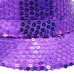 Purple Sequin Light Up Fedora Hat