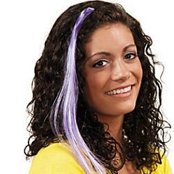 Synthetic Purple Hair Extensions