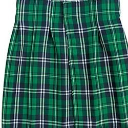 21 1/2in Imported Polyester St Patrick Day Plaid Kilt