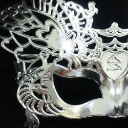 Plastic Silver Masquerade Face Mask