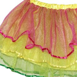 Pink/ Yellow/ Lime Green Color Tutu Skirt Kids Size