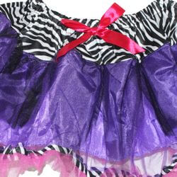 Purple/ Pink/ Black and White Color Tutu Skirt Adult Size
