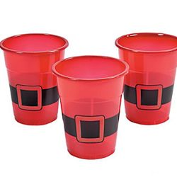 Plastic Santa Christmas Disposable Cups