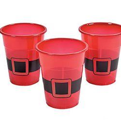Plastic Santa Christmas Disposable Cups