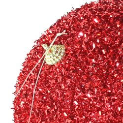 5in Glitter Decorative Red Ball Ornament