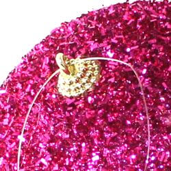 5in Glitter Decorative Fuchsia Ball Ornament