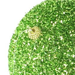 6in Glitter Decorative Lime Ball Ornament