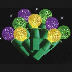 10.5ft 40 Count Mardi Gras Globe LED Light