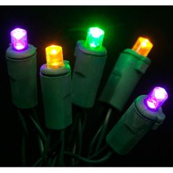 7ft 20 Count Battery Operated Mardi Gras Led Lights