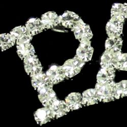 3in Long x 3/4in Tall Rhinestone Page Pin