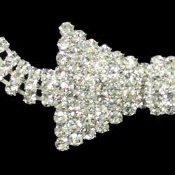 12in long x 1 1/4in Wide rhinestone Bowtie Necklace