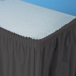 14ft x 29in Black Plastic Table Skirts