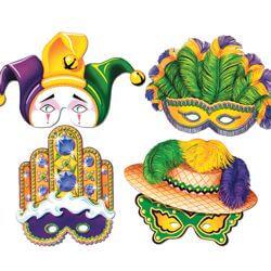 Assorted Paper Mardi Gras Masquerade Masks