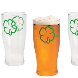 16oz St Patrick Day Pint Glasses/ Cup Hard Plastic