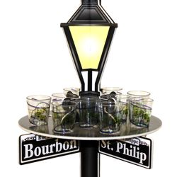 24 3/4in Tall x 12 1/4in Wide Cardboard Bourbon St Directional Sign/ Shot Glass Holder