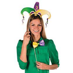 Paper Mardi Gras Stick Costume Props