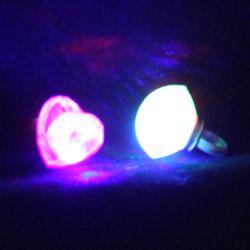 2in Light up Plastic Diamond Ring