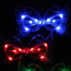 Light Up Butterfly Shaped Glasses