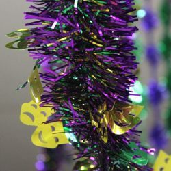 24ft Long Foil Mardi Gras Garland