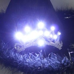 Black Cowgirl LED Light-Up Hat