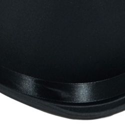 12in Long x 9 1/2in Wide Black Satin Top Hat
