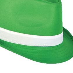 11in Long x 9in Wide Green Fedora Hat