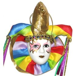 4 1/2in x 4 1/2in Assorted Color Jester Doll