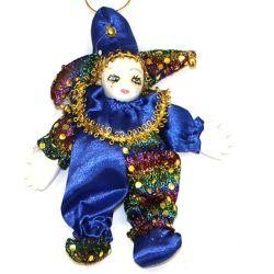 11in x 5 1/2in Assorted Color Jester Doll