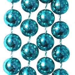 7mm 33in Metallic Aqua Beads