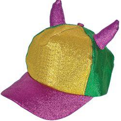 Mardi Gras Devil Horn Baseball Cap