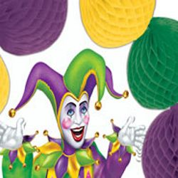 Mardi Gras Pop-Over Centerpiece with Jester Design