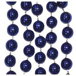 10mm 33in Round Dark Blue Metallic Beads