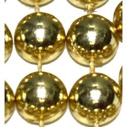 12mm 48in Metallic Gold Mardi Gras Beads