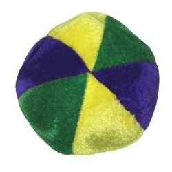 4in Purple/ Green/ Gold Mardi Gras Plush Basketballs