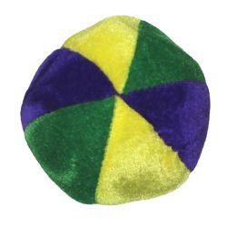 4in Purple/ Green/ Gold Mardi Gras Plush Basketballs