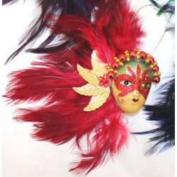 6in Tall x 4in Wide Assorted Colors Feather Face Magnet Dolls