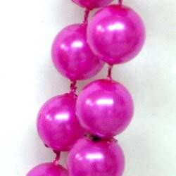 48in 12mm Round Hot Pink Pearl Beads