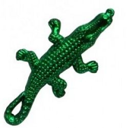 3in Long x 1.25in Wide Metallic Green Alligators