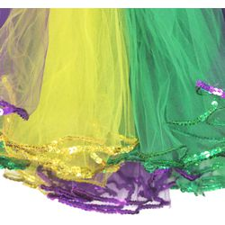Mardi Gras Colors Fancy Tutu Adult Size with sequins