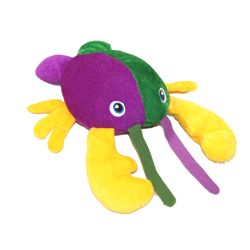 11in Long Mardi Gras Plush Lobster