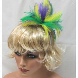 Mardi Gras Feather Hairband
